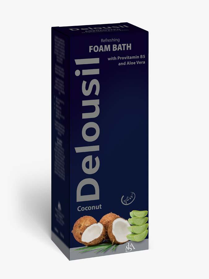 DELOUSIL Foam Bath with Coconut English Pack