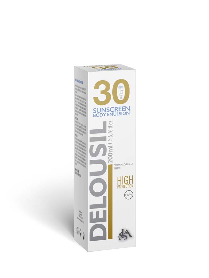 DELOUSIL SunScreen Body Emultion 30spf English Pack